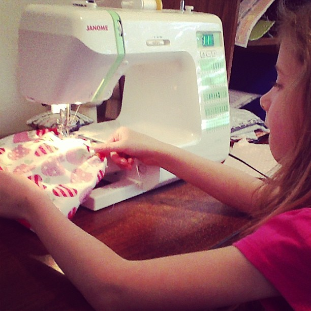First sewing machine lesson