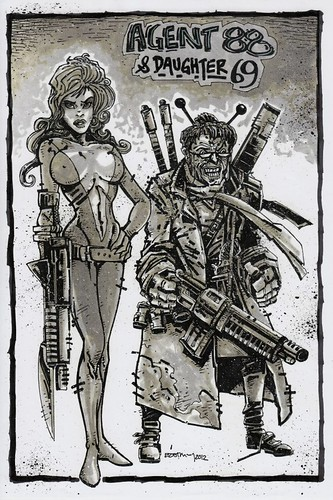HEAVY METAL Presents: The ART of 88 - 'AGENT 88 & Daughter 69' by KEVIN EASTMAN  (( 2012 ))