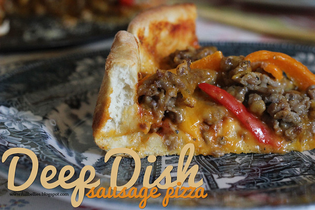 Deep Dish Sausage Pizza