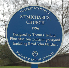 Photo of Thomas Telford blue plaque