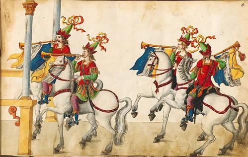 001-Cabalgata de Jason y Perseo-Descripción de las ocho festividades celebradas durante los juegos…1596-Biblioteca Estatal de Baviera