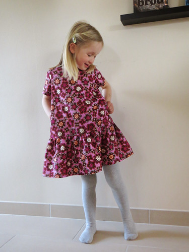 Flower hexagon dress - modeled