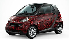 custom smart car snakeskin