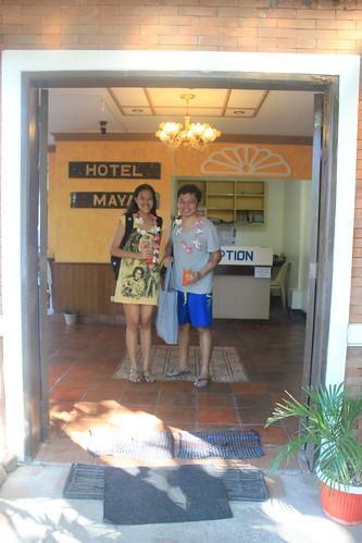 Mica and Yoshke in Hotel Maya Culion
