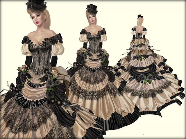 Victorian Ball Gown-Nude Chantilly