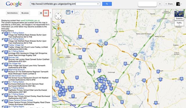 KML in Google maps