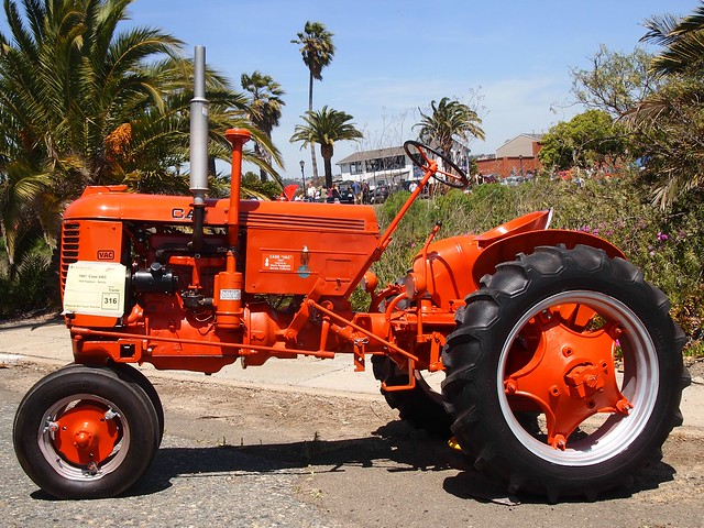 1947 Case Tractor : Case vac tractor photographed at the benicia