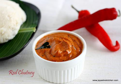 Red jalapeno chutney