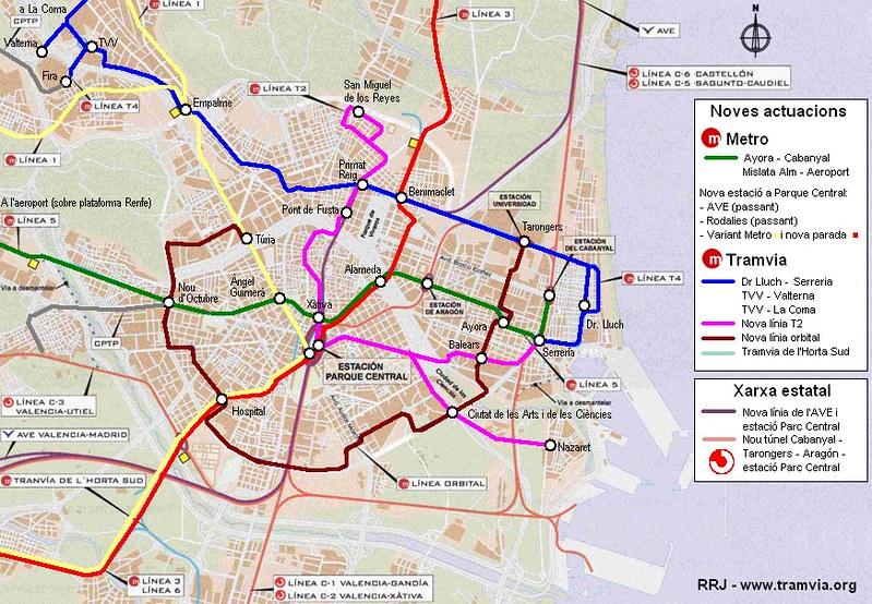 Mapa comboio / trem Valencia