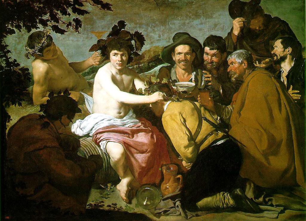 El triunfo de Baco. Óleo sobre lienzo. Diego Velázquez, 1629
