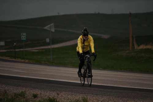 Peter Murray riding into Scenic, SD.