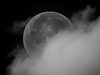 Moon and Cloud
