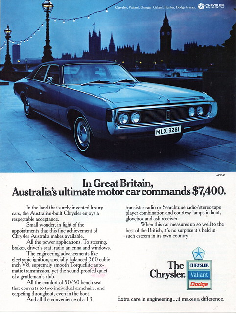1973 CJ Chrysler By Chrysler Aussie Original Magazine Advertisement