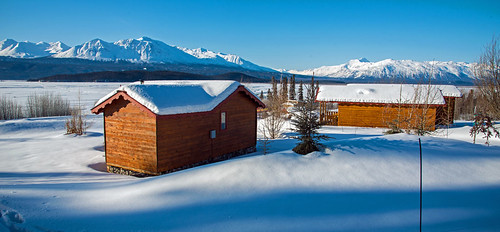 Ultima Thule Lodge guest cabins in Spring