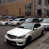C63 AMG carbon package spotted on the streets of #boston! Beautiful, and expensive.... Love it? I know we do! #euro #mercedes #amg #carbon #c63 #traffic #white #streets #beautiful #carporn