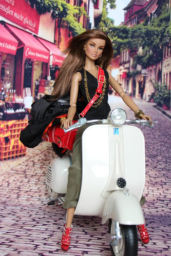 Go shopping on a Vespa