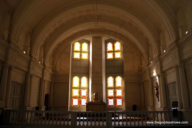 Chapel windows at Chateau de Chambord, Loire Valley, France