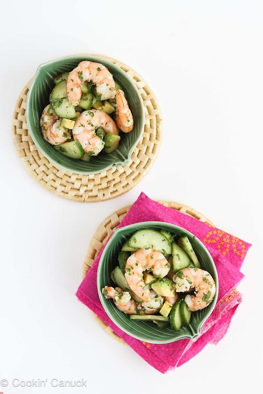 10-Minute Thai Shrimp, Cucumber & Avocado Salad Recipe #recipe #healthy