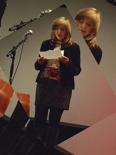Claudia announcing the award