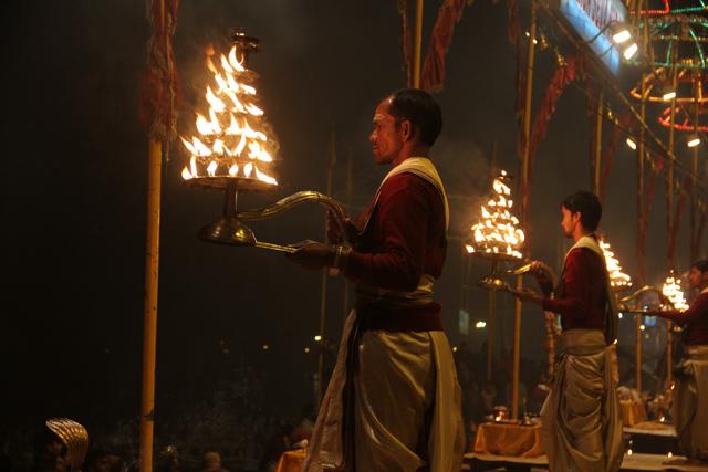 Night Pooja Ceremony in Varanasi