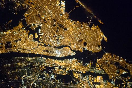 New York City at Night (NASA, International Space Station, 03/23/13)
