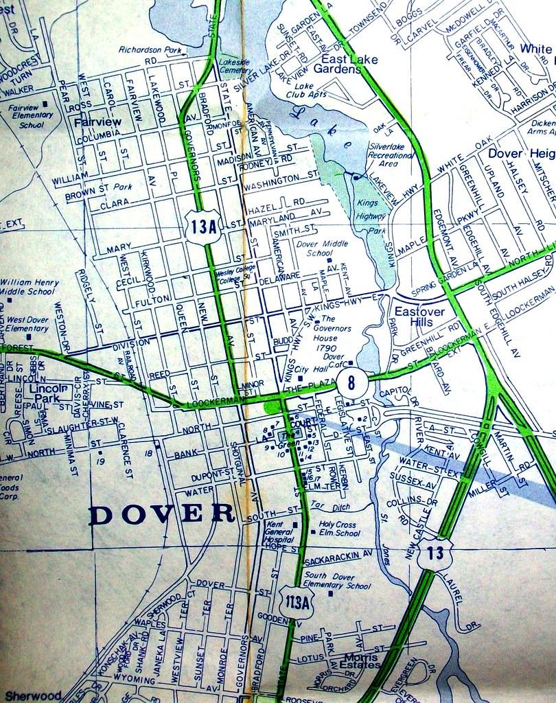 Dover De Zip Code Map.Dover De 1970 Map By Arrow Map Co Dover Is One Of Very Fe Flickr