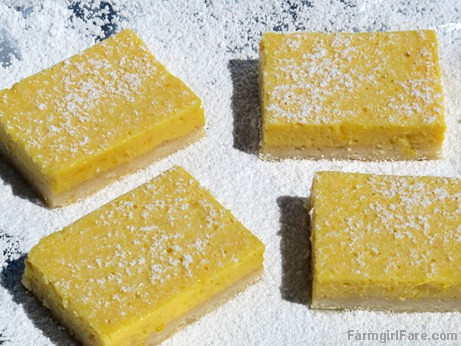 Really Lemony Lemon Bars (2) FarmgirlFare.com