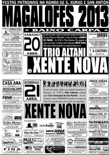 Fene 2013 - Festas de San Xurxo en Magalofes - cartel