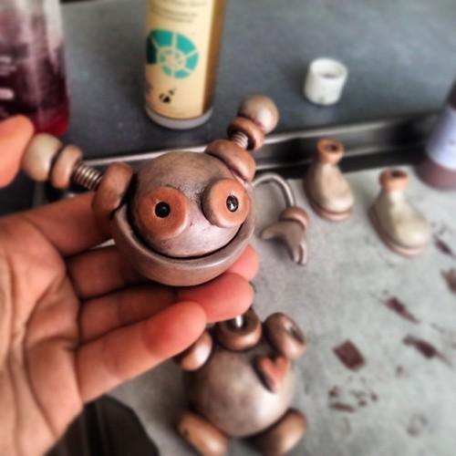 Work-in-progress: robot head's up! by HerArtSheLoves