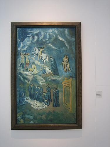 IMG_8921 - L'enterrement de Casagemas, 1901, Pablo Picasso, Musée d'Art Moderne de la Ville de Paris, 2008