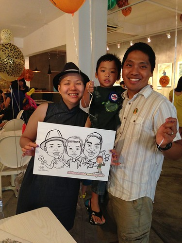 caricature live sketching for birthday party - 1