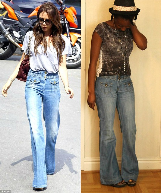 70's FLARED  JEANS TREND