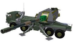 aircraft(0.0), missile(0.0), armored car(1.0), model car(1.0), weapon(1.0), vehicle(1.0), tank(1.0), self-propelled artillery(1.0), gun turret(1.0), cannon(1.0), military(1.0), toy(1.0),