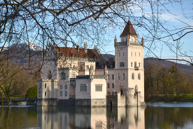 The famous water castle of Anif