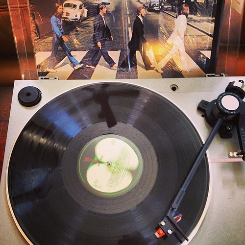 #nowplaying #Beatles re-released Abbey Road on #vinyl -still one of the best albums of all time.