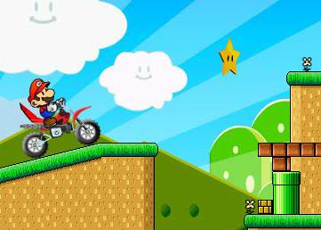 Mario na motocrossie