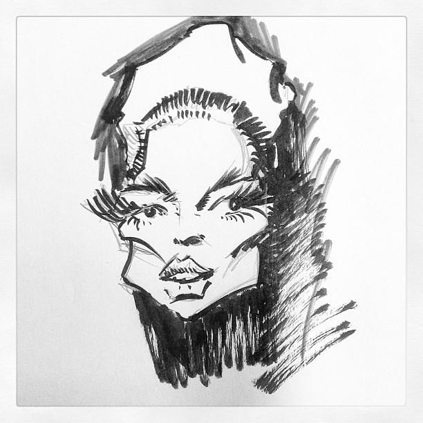 Faye dunaway sketch