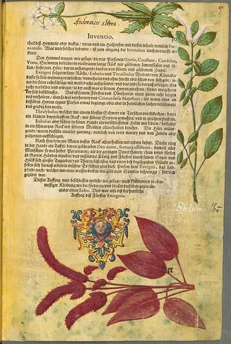 022-Pagina de texto con margenes decorados-Descripción del bautismo de la dama Isabel de Hesse-1598-Biblioteca Estatal de Baviera