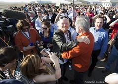 Sir Richard Branson & Burt Rutan share an emotional moment
