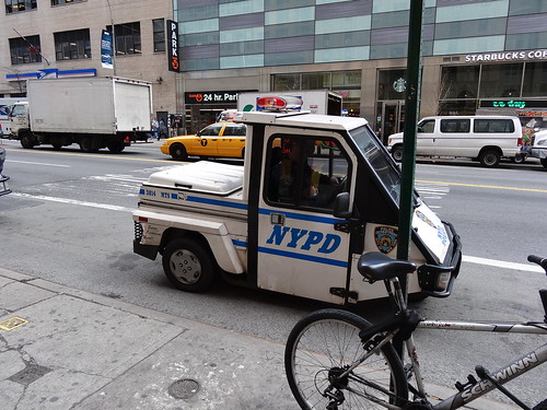 Weird mini NYPD car
