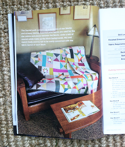 Starfall in Modern Quilts Unlimited Spring 2013
