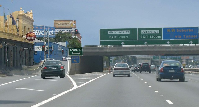 East-west motorway mockup