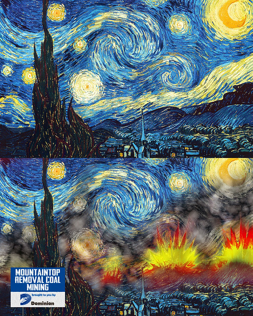 Starry Night marred by mountaintop removal coal mining