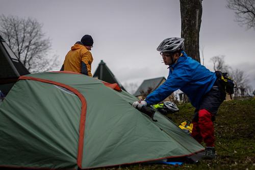 Camping at Tsukigata Kairaku Campground (Tukigata Town, Hokkaido, Japan)