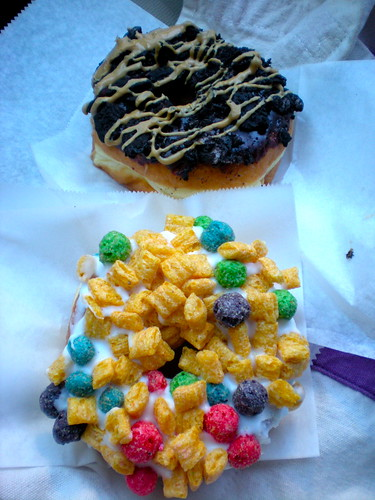 VooDoo Doughnuts Captain Crunch and Oreo Peanut Butter