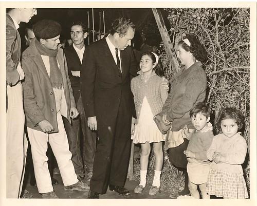 David A Brigham and Richard M Nixon in Chile 1966 or 1967