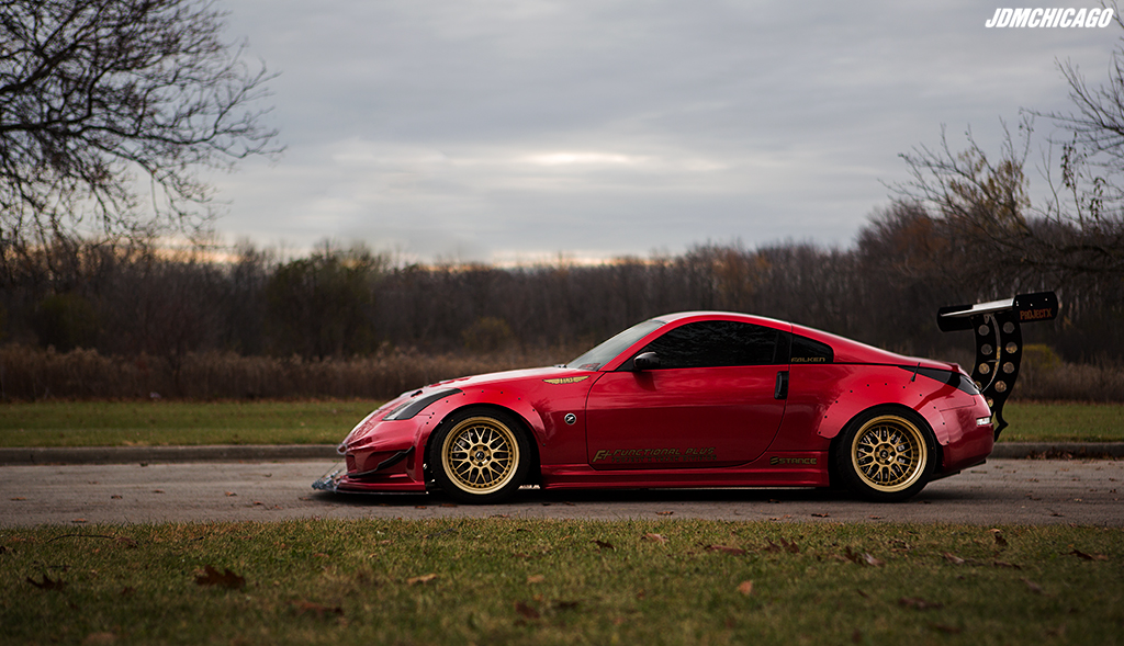 Aggressive 350z shoot (Twin Turbo/ Long Nose/ Work Wheels