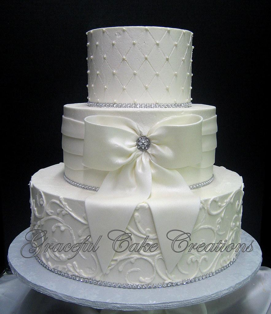 Elegant Wedding Cake Not Fondant