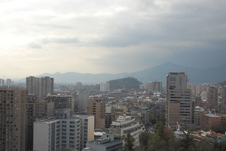 View of Santiago from Cerro Santa Lucia