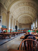 Boston Public Library on a Saturday morning